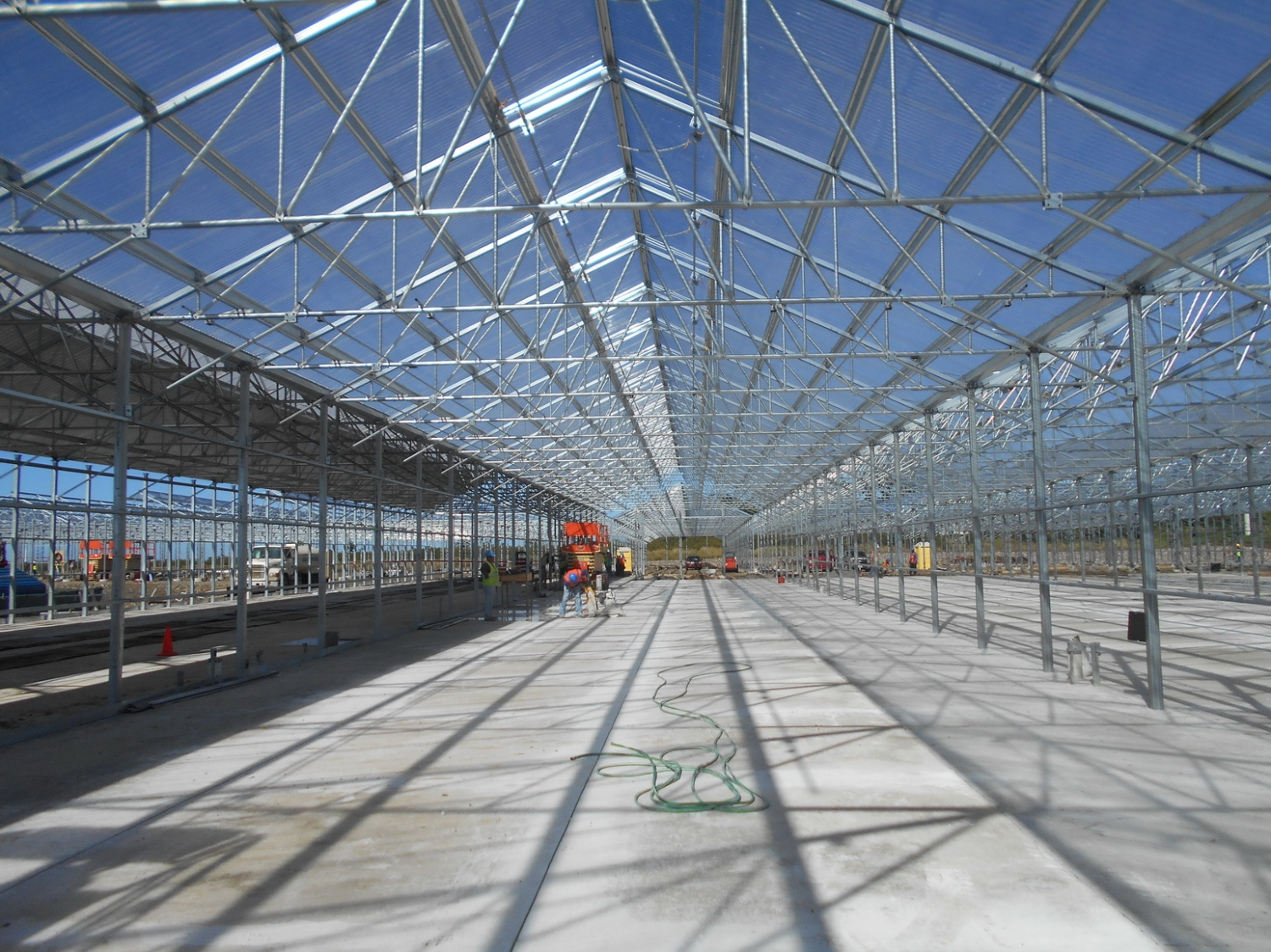 During construction | Commercial Greenhouse Manufacturer