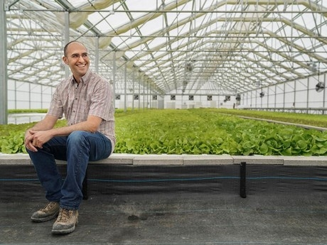 Aquaculture specialist Jackson Gross advises the farm on everything from fish reproduction to wastewater management.