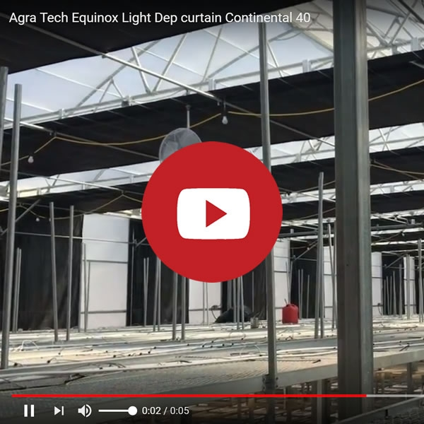 Agra Tech Solar Light with Equinox Light-dep curtain | Cannabis Production