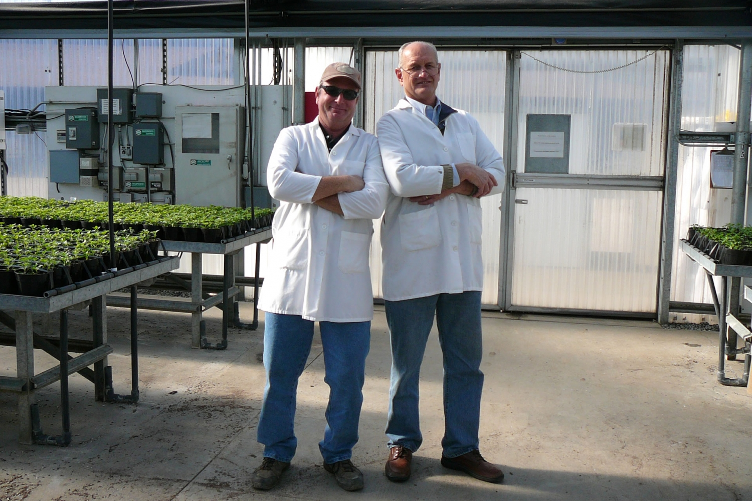 John Pound and Ray Pound of Ag Con on a site visit