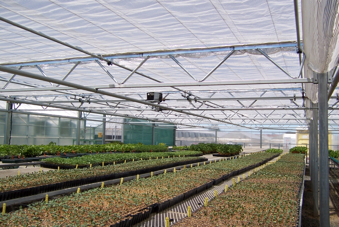 Commercial Greenhouse Retractable Shade House