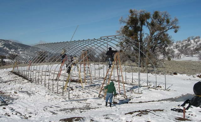 North Slope greenhouse for Norbertine Monastery | Norbertine Monastery | Tehachapi, CA