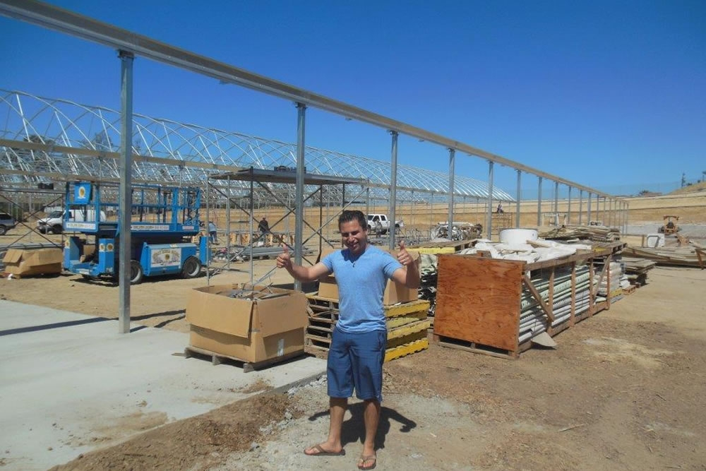 Pierre Sleiman excited  about his new Agra Tech greenhouse | Commercial Greenhouse Manufacturer