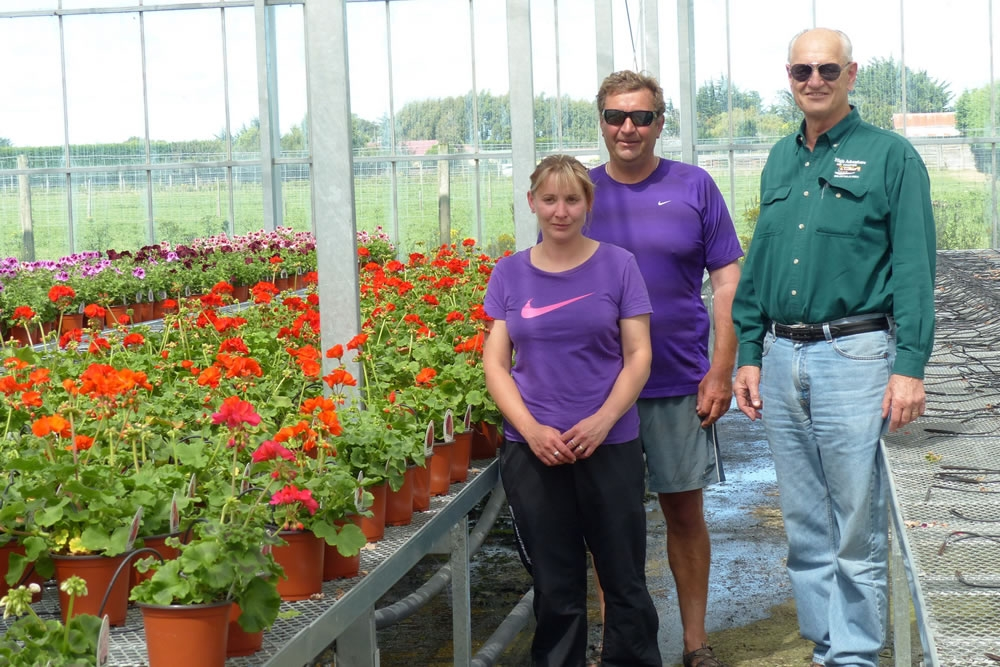 John Pound Visits Hayes Wholesale Nursery in New Zealand