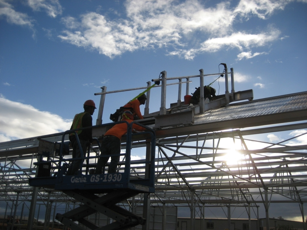 Exterior Fall Protection Scaffold